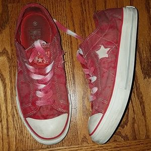 One Star Converse red pink shoes size 6